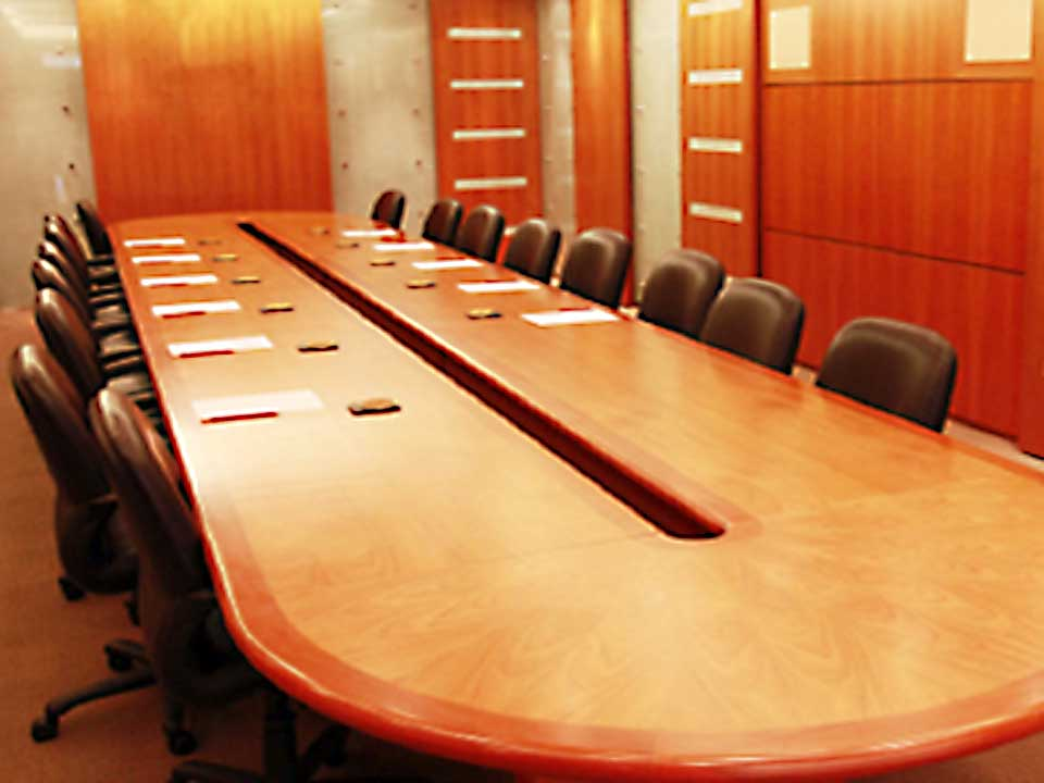 Custom conference table pad photo
